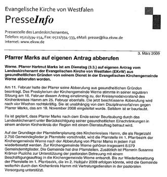 Pressemitteilung des Landeskirchenamtes