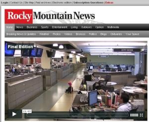 Die Rocky Mountain News schließt