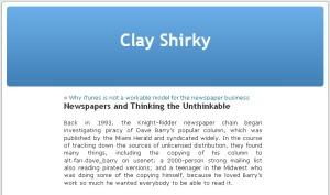 Clay Shirkys Analyse
