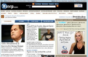 Die Website der Detroit Free Press