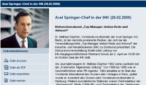 Springer-Chef Mathias Döpfner bei der IHK DO