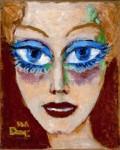 Kees van Dongen, Frau mit blauen Augen (1908)