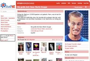 Anti-Hans-Martin Gruppe bei StudiVZ