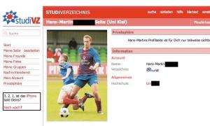 Das private StudiVZ-Profil von Hans-Martin (Nachname von mir geschwärzt)