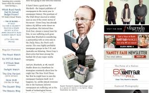 Rupert Murdoch: War with the Internet (Vanity Fair)