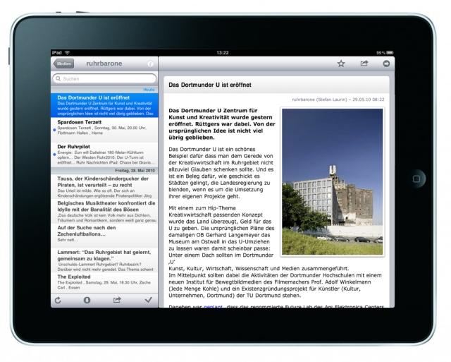 NewsRack auf dem iPad