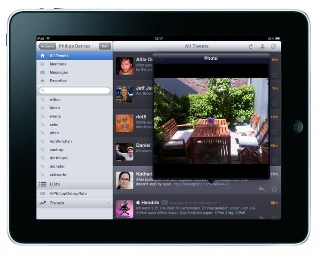 Twitterific auf dem iPad