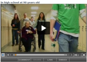 In highschool at 90 years old