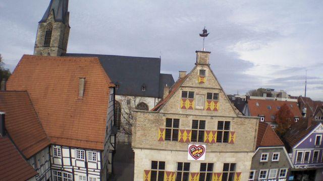 Altes Rathaus und Christophorus-Kirche in Werne
