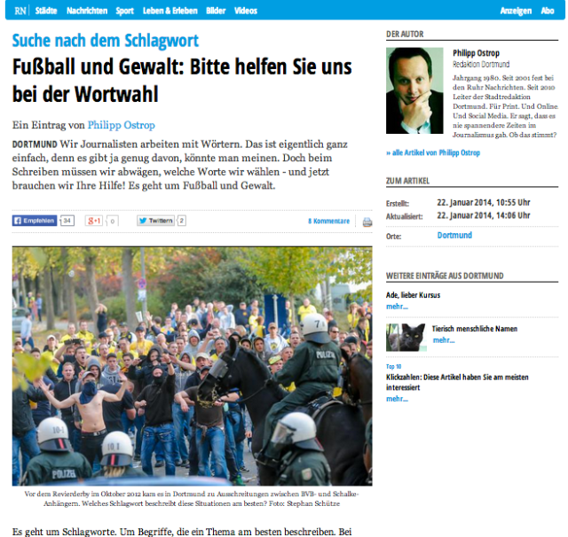 Mein Blogpost bei RuhrNachrichten.de